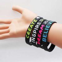 Lieferanten Custom Motivational Silikon Armbänder debant Armband Silikon Armbänder für Freunde