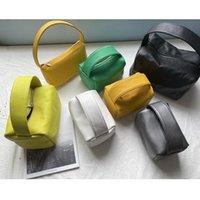 Минималистский стиль мягкая кожаная коробка сумка конфеты цвет леди рука квадрат коровьей женского шикарного портативный обед крест корпус