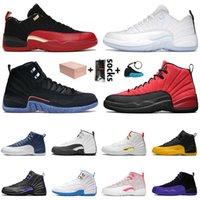 sapatos nike air jordan retro 12 12s stock x Tênis de basquete XII 2020 JUMPMAN 23 DARK CONCOR REVERSE FLU GAME Gym luxo Sapatilhas para homem Tamanho EUR 47