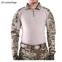 Manicotto all'ingrosso ESDY FROG RAN BRAND BRAND Camouflage Long Suit Uomo Top Tactical Tool Cargo T Shirt Army Milita