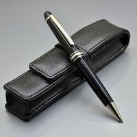 Promotion - Luxe MSK-145 Noir Résine Stylo à bille de haute qualité Écriture de haute qualité Points de balle Papeterie Fournitures de bureau d'école avec numéro de série