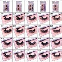 100sets 3D Mink Natural False Eyelashes Fake Lash Eyelash 3 in 1 Soft Light Glitter Extension Eye Lashes With Tweezer Brush Makeup Tool