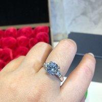Женщины Ювелирное кольцо S925 Посеребренные ручной узелковывающиеся квадратные бурильные бриллианты для женщин Обручальные кольца