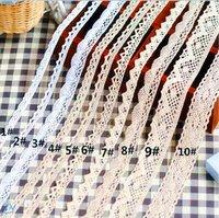Estilos de moda 100% algodão tecido crochet laço aparar fita de ilhós para bebê acessório de cabelo 30yards / lote sofá cortina pequeno lado pequeno