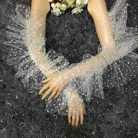 Dots Semi Heer Ladies Lace Elegant Långärmad Courtesy Sommarhandskar För Bröllop Middagspartier St396
