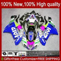 Kawasaki Ninja Motorcycle ZX 636 ZX600 ZX-636 ZX-600 2007 2008-6R ZX600C ZX636 ZX6R 07 08 ZX 6R 600 CC 600CC 6 R 07-08 FAIRING 광택 파란색