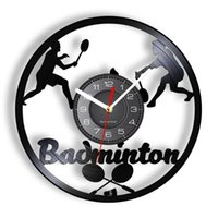 Wall Clocks Badminton Clock Made Of Real Record Sports Home Decor Silent Watch For Coaches Players And Fans