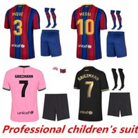 Barcelona Kit Kit de Futebol Jersey Barca 20 21 22 Messi Grisezmann Camiseta Futbol Ansu Fati 202 FDE Jong Manga Longa Maillots de Football Sets Jerseys