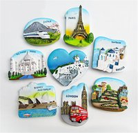 Fridge magnet souvenir Greece Paris Resin stereo refrigerator Magnetic sticker Sydney home decor kitchen decoration magnet stickers