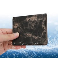 Card Holders Vaccination Holder Creative Marble Leather Case S Protective Cover Women Men Storage Pocket