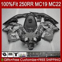 Kit de cuerpo Inyección para HONDA MC19 CBR 250RR 250 RR CC 250R 88 89 Carrocería 112HC.213 CBR250RR 1988 1989 CBR250 RR CC 1988-1989 CBR 250CC 88-89 CABRADOR DE OEM GRIS GRIS
