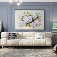 Картины абстрактный холст живопись ручной работы толстые текстуры цветочное масло для гостиной украшения палитры нож плюя