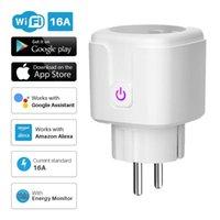 Smart Power Plugs Plug WiFi Socket EU 16A Monitor Timing Function Tuya SmartLife APP Control Works With Alexa Google Assistant