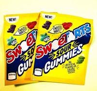포장 가방 빈 패키지 가방 지퍼 잠금 노란색 SweetArts 600mg Gummies Sour 사탕 거미 소스 Resealable Edibles2021