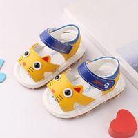 Sandals For Children Baby Toddler With Whistle Screaming Sandalias Cartoon Soft Bottom Baotou Kids Girls 2021