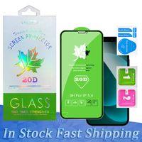 Protecteur d'écran en verre de feuille de feuille d'érable 20D pour iPhone 12 Mini Pro MAX 11 XR XS Samsung A01 A11 A31 A31 A41 A51 A71 A81 A91 Téléphone Film trempé avec boîte de paquet de vente au détail