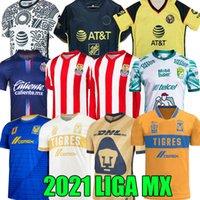 21 22 Chivas Soccer Jerseys 115th Anniversary club America Giovani 2021 Tigres Uanl Liga MX Guadalajara Camicia da calcio Donne A.Vega Macias Manica lunga Leon Uniform