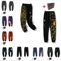 Pantalon Hommes Camouflage Camouflage Haute Qualité Pantalon Ceinté de haute qualité Hommes et Femmes Même Style Pantalon de requin Casual Pantalon Pantalon Apprendre Sac fourre-tout 0101
