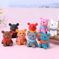 Ev Dekorasyon 5 cm Bebek Parti Aksesuarları Sevimli Plastik Teddy Bear Minyatür Peri Paskalya Hayvan Bahçe Figürinler Evler Dekor Giymek için de kullanılabilir