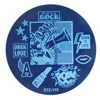 Nail Stamping Platten Runde Blume / Geometrie Nail Art Platte Maniküre Vorlagen DIY Polish Druckschablonen