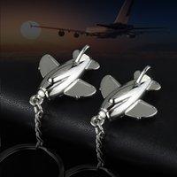 Llavero Simulación de tridimensionales Pequeñas aeronaves Llavero creativo Metal Colgante Aviación Publicidad Regalos