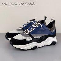 Erkekler Dantel-up B22 Sneaker Ayakkabı Beyaz Deri Dalfskin Sneakers Üst Teknik Örgü Kadın Platformu Mavi Gri Run Trainers