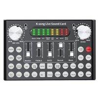 بطاقات الصوت F8 Set Card Set Mixer Karaoke Universal البث الخارجي تغيير كابل الكمبيوتر بلوتوث سبائك الألومنيوم الرقمية