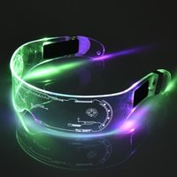 Glasses LED EL Wire Neon Party Luminous Light Up Rave Costume Decor DJ SunGlasses Halloween Decoration