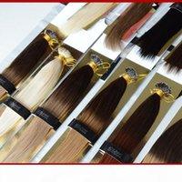 """XCsunny Nano Anel Remy Extensões de cabelo 18 """"20"""" 1g S Ombre Nano Loop Extensões de cabelo 100g Nano Bead Extensões de cabelo + 100Beads"""