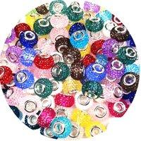 5 mm Big Hole Crystal Beads Rhinestone Murano Spacer Charms Ajuste para Pandora Pulsera Collar DIY Joyería Haciendo Mujeres