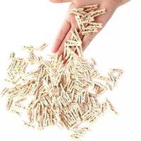 Vestuário armazenamento de guarda-roupa 50/100 pcs / lote mini portátil natureza natural clothespin roupas pegs para papel decoração clipes casa diy po