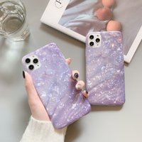 Lavender shell pattern phone cases for iphone 13 pro max 12 11 X XR XS 7 8 plus SE case cover