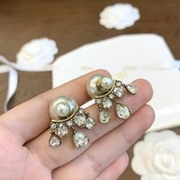 Trendy Vintage Gold Plated Wheat Stud Earrings Zircoina for Women Fashion Jewelry Accessories Wedding Party Anniversary Gift With Box