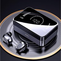 Bluetooth 5.0 TWS earphones T5 plus upgrade charger power HIFI Noise Reduction AirDots headphone with Mic Fingerprint AI Control chagers Wireless Headset