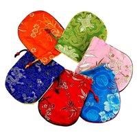 10 stks Katoen gevulde Chinese Zijde Brocade Sieraden Pouches Trekkoord Kleine Gift Verpakking Zak Armband Horloge Storage Case Sachet