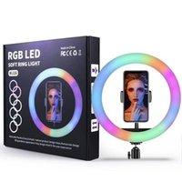 10 polegadas RGB Ring Light Tripé LED Ring-Light Selfie-Light Ring-Light com suporte RGB 26cm Luz de vídeo para o YouTube Tik Tok
