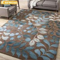 Alfombra de arte abstracto nórdico de la flor para la sala de estar dormitorio antideslizante grande alfombra de la alfombra de la alfombra de la moda de la moda alfombrillas de la cocina alfombrillas