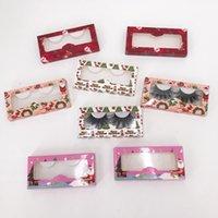 Christmas eyelashes box hot red popular soft cardboard free trays wholesale custom private label logo 25mm 3d eyelash case