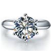 3ct الكلاسيكية سونا خاتم الماس الاصطناعية للنساء خطوبة pt950 مختوم فضة ring18k الذهب الأبيض لوحة الذكرى