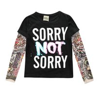 INS spring and autumn boys' shirt European American long-sleeved stitching hip-hop style flower arm tattoo sleeves