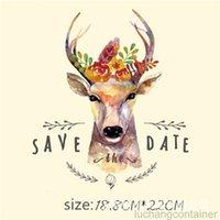 Mode lustige Tier Hirsch Aufkleber für Kleidung 18,8 * 22 cm Patches Aufkleber DIY T-Shirt Jacke Eisen auf Patches