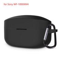 50 teile / los Weiche Schutzhülle für Sony WF-1000XM4 Protector Kopfhörer Zubehör Ladebox Siloconabdeckung TPU-Shell mit Anti-Lost-Haken