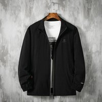 Spring 2021 Men's Fattening Plus Size Leisure Sports Thin Coat Fat Stand Collar Jacket Jackets