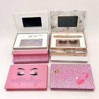 Eyeliner Pen False Eyelashes Packaging Custom Logo Lash Box with Tweezers 25mm Mink Eye Lashes 3D