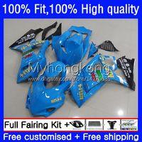Bodywork OEM For SUZUKI GSXR 1000CC 1000 CC K7 Injection Mold Body RIZLA blue 27No.140 GSXR-1000 GSXR1000 07 08 GSXR1000CC 2007 2008 GSX-R1000 2007-2008 Fairing Kit