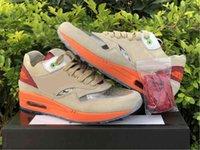 2021 Clot Authentic 1 Kuss des Todes Outdoor Schuhe Männer Frauen Netto Tief Rot Orange Blaze Chinesische Kultur Wildleder Turnschuhe Sport mit Original