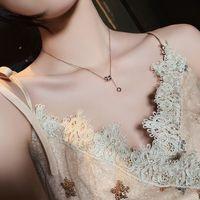 Advanced sense small manwaist, good luck titanium steel necklace women's fashion net red simple Korean clavicle chain