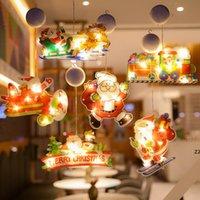 Décoration de Noël Fenêtre éclairée Decor Décor Xmas Lumières avec une gobelet d'aspiration Crochet pour Festival Party HWB10331