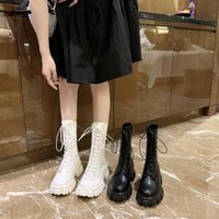 Boots Women's Rubber Female Shoes Boots-Women Flat Heel Zipper Luxury Designer Winter Footwear Round Toe Rain Ladies Autumn 2021