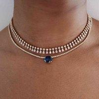 Stonefans قلادة الشارع الشهير النساء أزياء الزركون مجوهرات kawaii خمر المختنق على الرقبة طوق سلسلة قلادة الهدايا